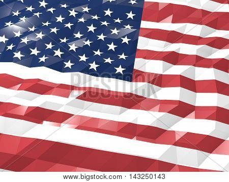 Flag Of United States Minor Outlying Islands 3D Wallpaper Illustration