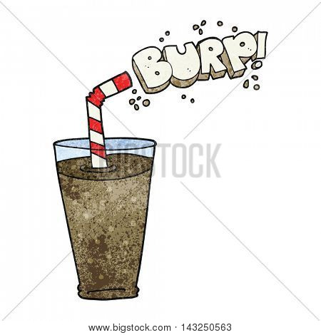 freehand drawn texture cartoon fizzy drink in glass
