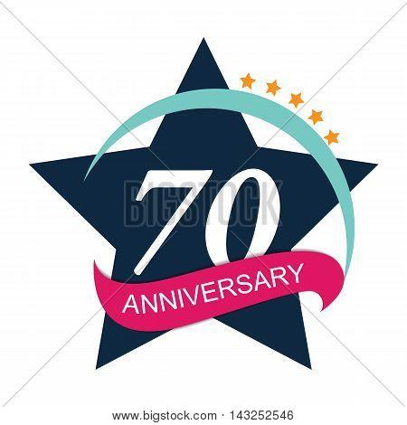 Template Logo 70 Anniversary Vector Illustration EPS10