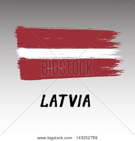 Flag Of Latvia  - Color Grunge Icon