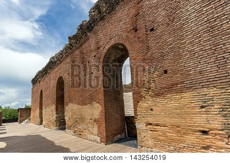Ruins of  Roman Odeon, Patras, Peloponnese, Western Greece