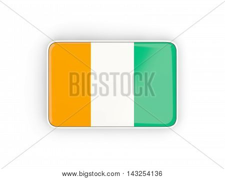 Flag Of Cote D Ivoire, Rectangular Icon