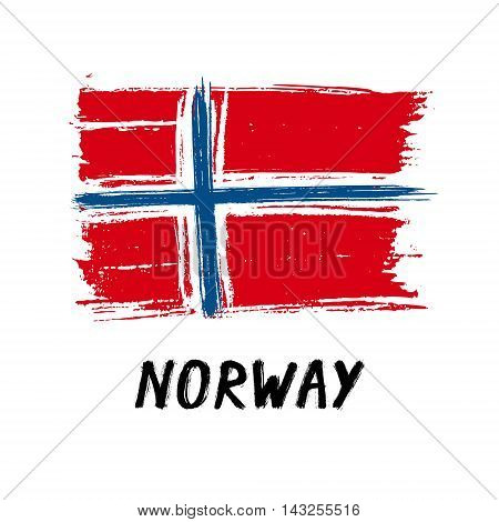 Flag Of Norway - Color Grunge Icon