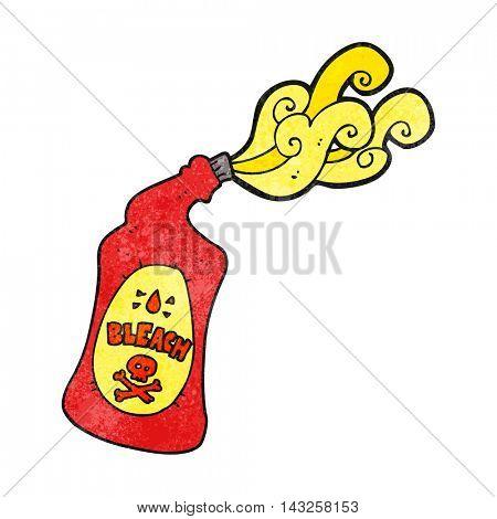 freehand drawn texture cartoon bleach bottle squirting