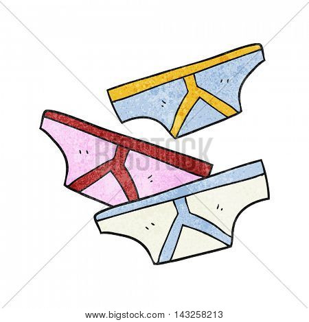 freehand drawn texture cartoon underpants