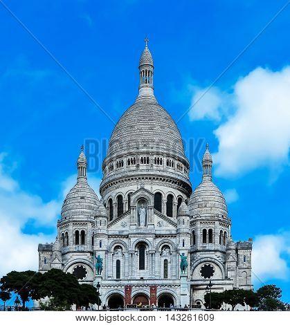 Paris - Sacre Coeur on the hill of Montmartre