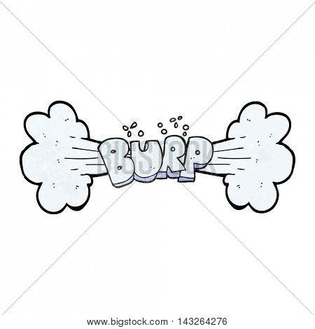 freehand textured cartoon burp symbol poster
