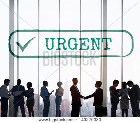 Urgent Importance Order Prioritize Rank Graphic Concept