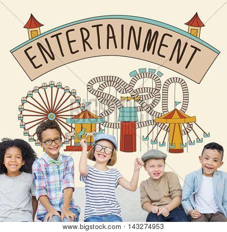 Entertainment Charm Enjoyment Thinking Act Concept