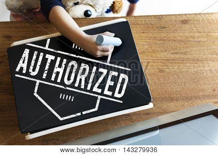 Authorize Allowance Approve Permit Graphic Concept poster