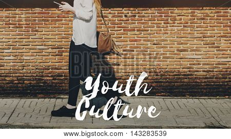 Youth Culture Young Customs Norms Concept poster