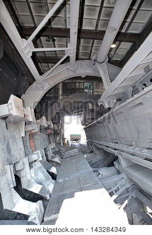Donetsk Coal Unloading Station. Boxcar With Coal. Chp. Production And Loading Of Black Gold. Freight