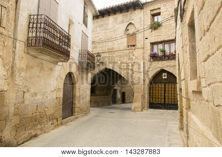 Strolling through Cretas in Teruel, Aragon, Spain.