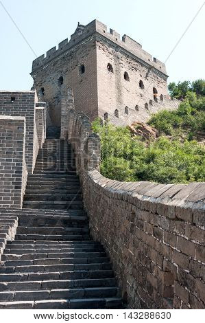 The Great Wall of China near JinShanLing Miyun District Hebei China.