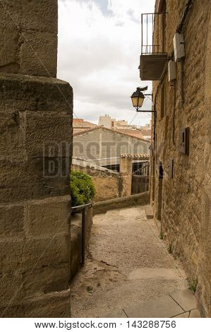 Streets Cretas in Teruel in Aragon, Spain.