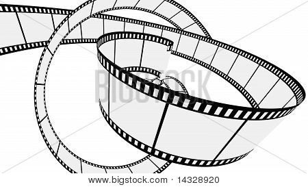 Vector Blank film strip