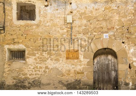 Gateway in Calaceite in Teruel, Aragon, Spain.