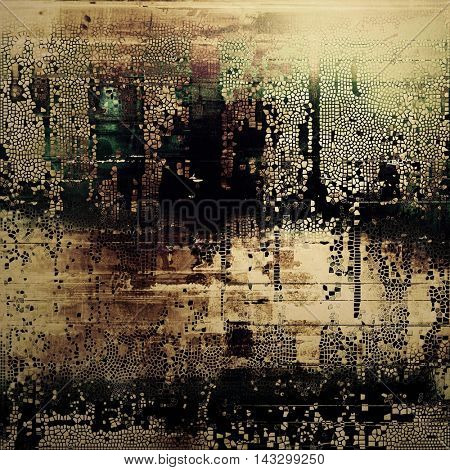 Cute colorful grunge texture or tinted vintage background with different color patterns: yellow (beige); brown; black; green; gray