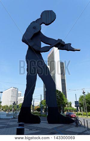 FRANKFURT AM MAIN GERMANY - AUGUST 7 2015: Kinetic sculpture