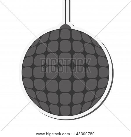flat design disco ball icon vector illustration
