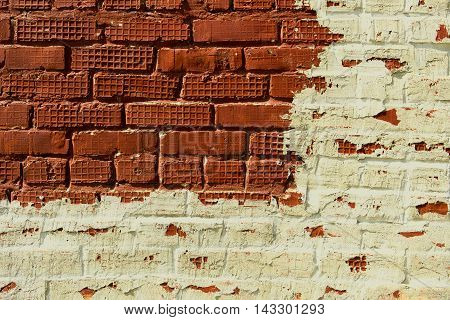Brickwork, brick, pattern of old brick surfaced, rough brick wall, brickwall, brick house, orange brickwork, brick wall, painted and plastered brick wall