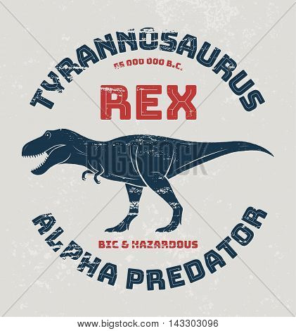Tyrannosaurus Rex T-shirt Design, Print, Typography. Vector Illustration.