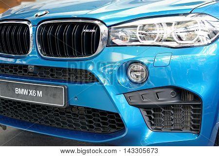 MUNICH GERMANY - 4 AUGUST 2015: BMW M3 presented at BMW World showroom in Munich Germany.