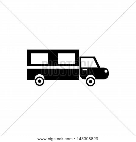 Hearse icon in simple style on a white background