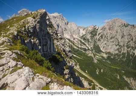 Kamnik saddle in Kamnik Savinja alps, Slovenia