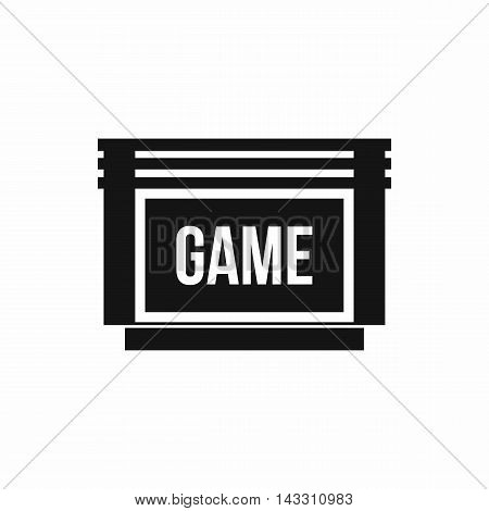 Game cartridge icon in simple style on a white background