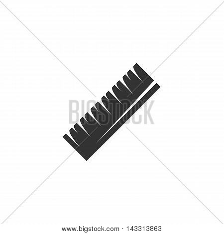 Ruler logo silhouette design template isolated on a white background. Simple concept icon for web, mobile and infographics. Abstract symbol, sign, pictogram, illustration - stock vector