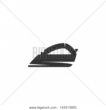 Iron logo silhouette design template isolated on a white background. Simple concept icon for web, mobile and infographics. Abstract symbol, sign, pictogram, illustration - stock vector