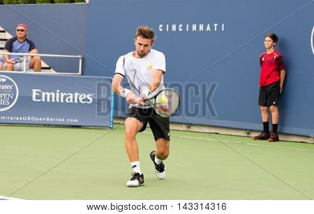Mason, Ohio - August 13, 2016: Tim Smyczek at the Western and Southern Open in Mason, Ohio, on August 13, 2016.