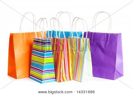 Shopping bags isolata on white background
