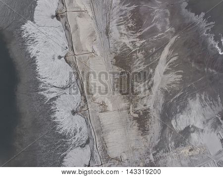 Degraded Landscape Minerals Mine In South Of Poland. Destroyed Land. View From Above.