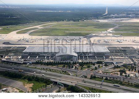 Frankfurt Airport Terminal 2 Aerial Photograph