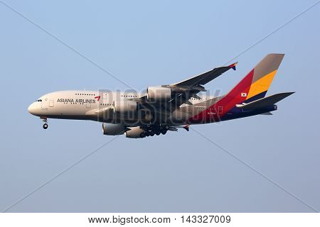 Asiana Airlines Airbus A380 Airplane Seoul Incheon International Airport