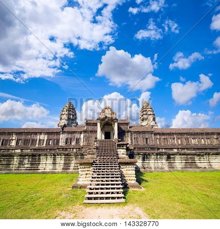 Angkor Wat The Ancient  Buddhist And Hindu Temple Complex