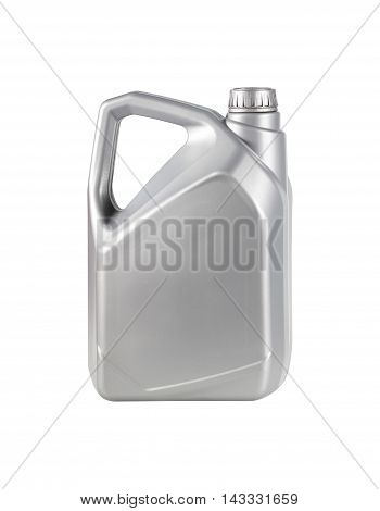 Engine oil canister isolated on white background.