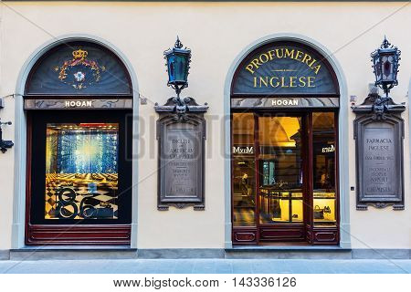 Luxury Perfumery In The City Center Of Florence, Italy