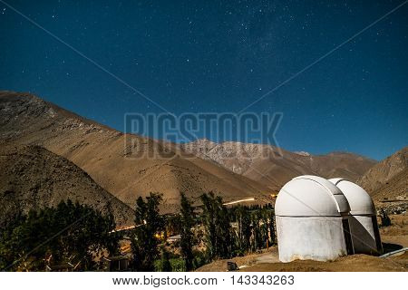 Starry night at Valle del Elqui in Chile