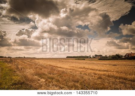 cloud formation over the northern part of Danmark