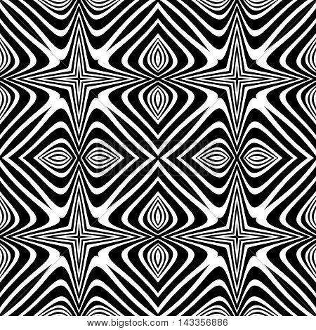 Design Seamless Monochrome Decorative Background
