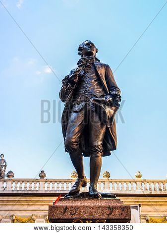 Goethe Denkmal Leipzig Hdr