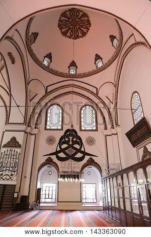 Grand Mosque Of Bursa In Turkey