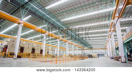 Interior of metallurgical plant workshop, Thailand, Asia