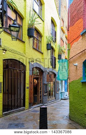 Neal's Yard, A Small Alley In London's Covent Garden