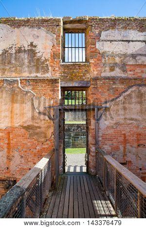 The interior of the penitentiary building at Port Arthur in Tasmania, Australia