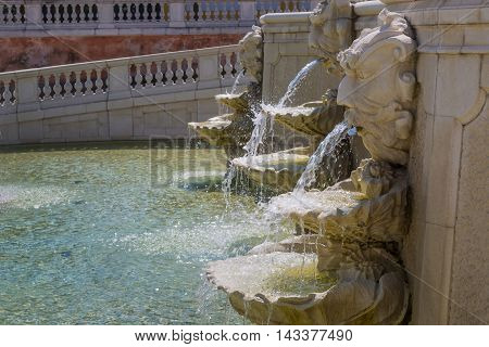 Neptune Fountain At  Castle Schloss Hof, Austria