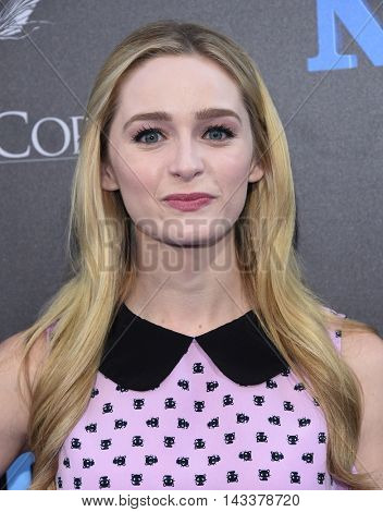 LOS ANGELES - AUG 01:  Greer Grammer arrives to the